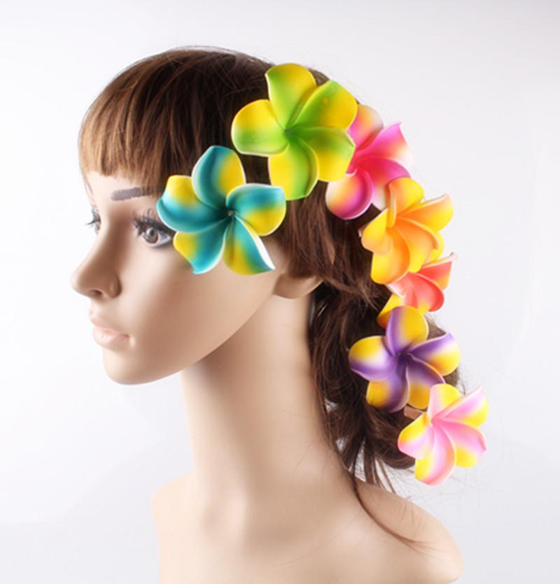 7cm multiple Foam Hawaiian Plumeria flower Frangipani Flower clips/nice bridal hair accessories/wedding hairpins