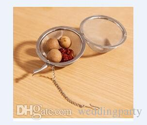 Espremedor de chá de aço inoxidável infusor de chá 4,5 cm bola de infusor bola de chá bola de filtro