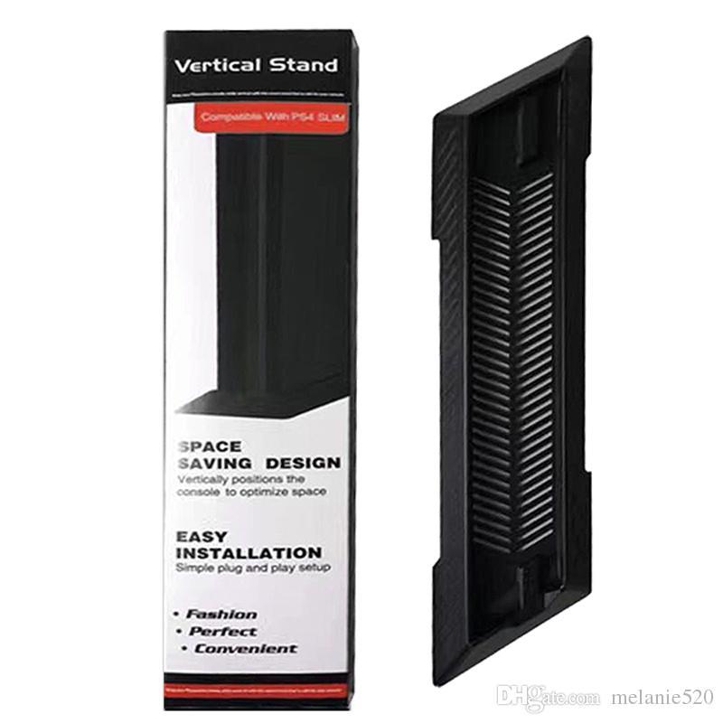 Suporte vertical Base De Suporte De Montagem De Doca Berço Titular para Sony PS4 Slim ConsoleNon-Slip Seguro Base De Plástico