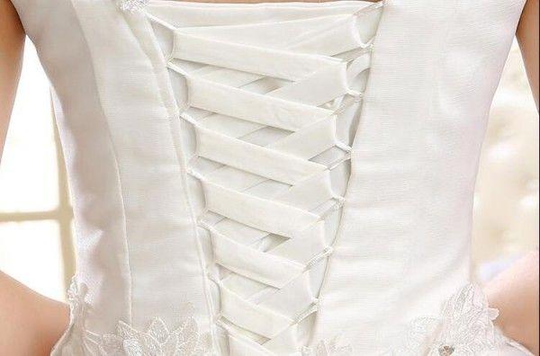 Sparkly Yüksek Boyun Balo Gelinlik Prenses Şeffaf Cap Kollu Kristaller Dantel Aplikler Payetli Tül Korse Gelin Önlükler