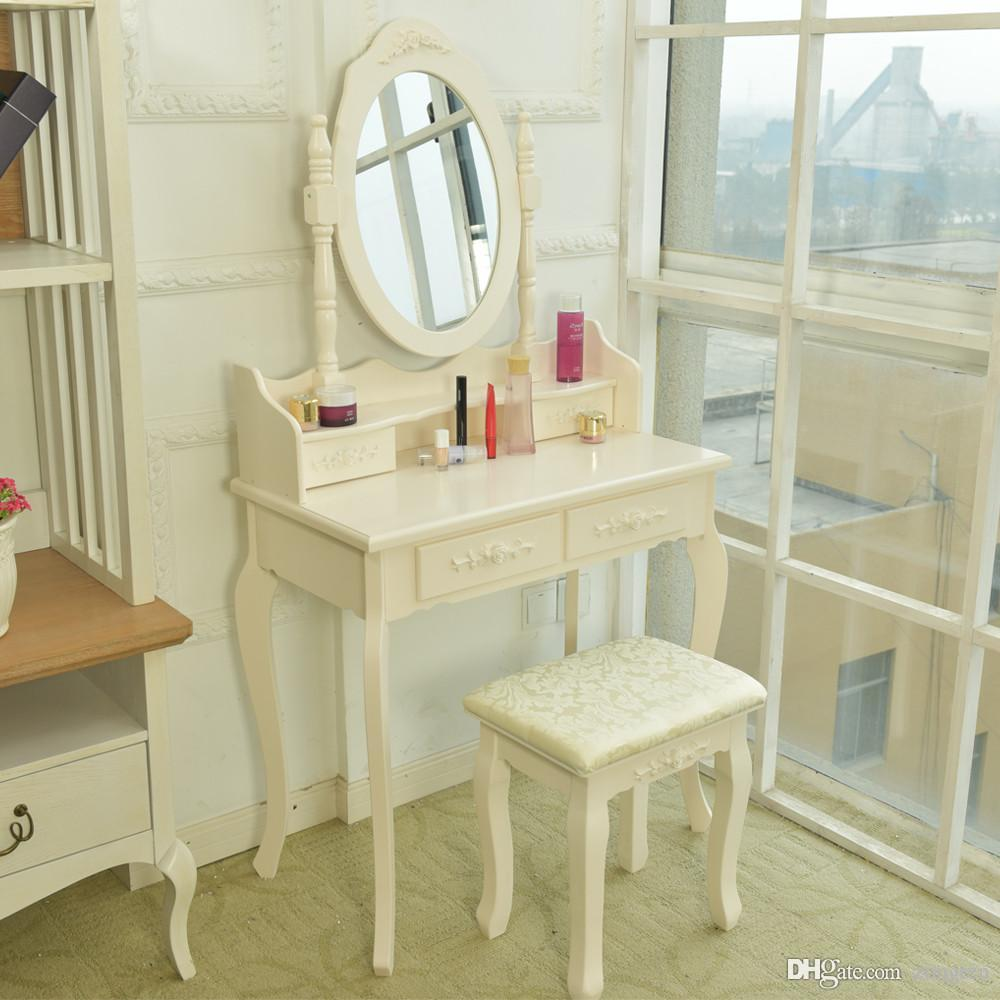 2018 4drawers Wooden Mdf Dressing Table With Mirror Stool Drawer From  Zongten, $41.31 | Dhgate.Com