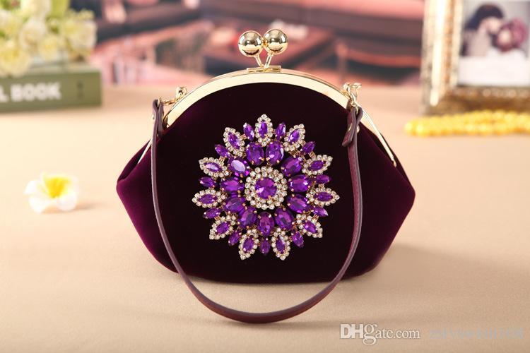 أزياء جديدة الزفاف العروس حقيبة حقيبة شيونغسام حزمة المخملية رسول حزمة احتفالية
