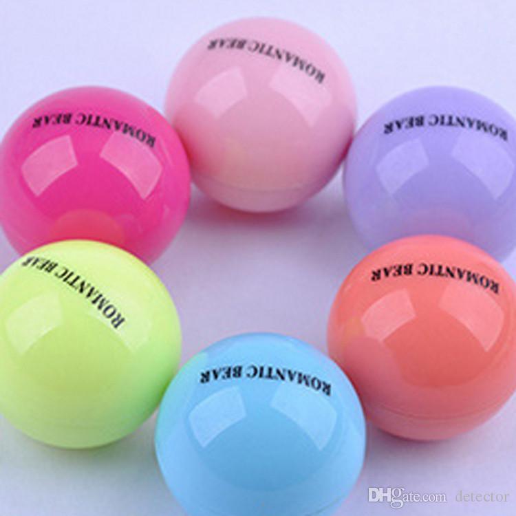 Bola redonda Maquillaje de barra de labios 3D Hidratante Bálsamo labial Planta natural Esfera labio Pomada Bálsamo labial Fruta Embellecer Cuidado de labios