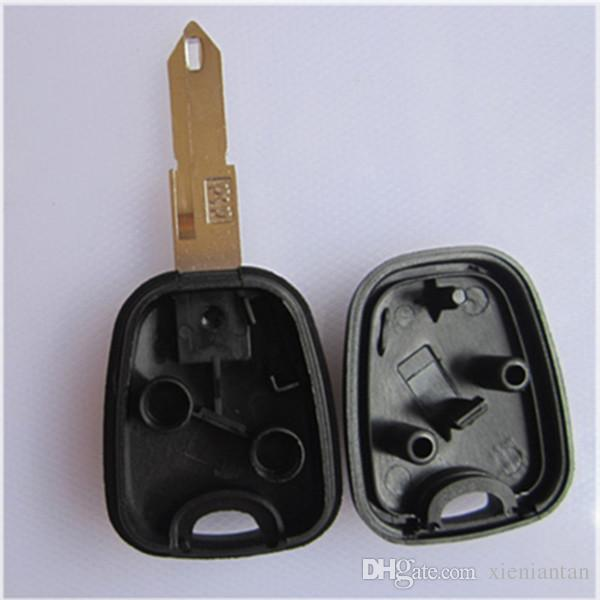 For Peugeot 206 Blank Transponder Key Shell Can Install Chip With Logo S51