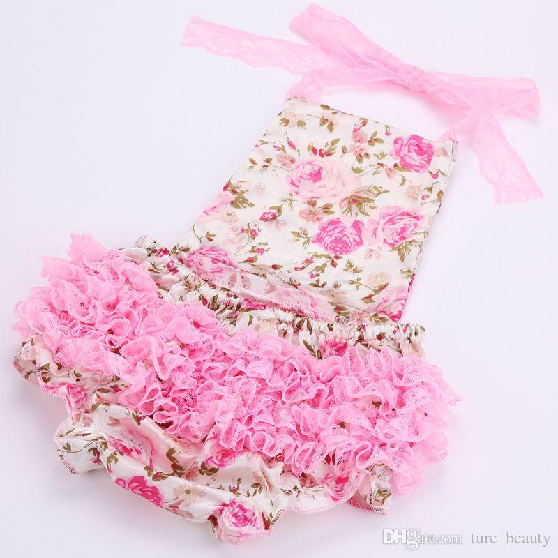 VENDITA CALDA !!! Pagliaccetto di pizzo floreale set di scarpe capelli da bambino, abiti estivi neonati boutique ropa bebe;
