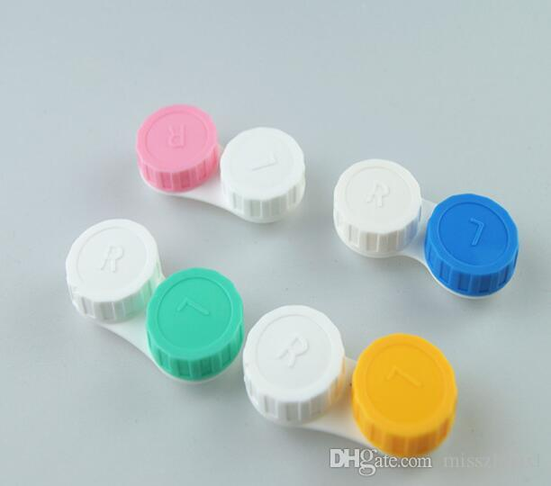 best Price contact Lens Case lovely Colorful Dual Box Double Case Lens Soaking Case