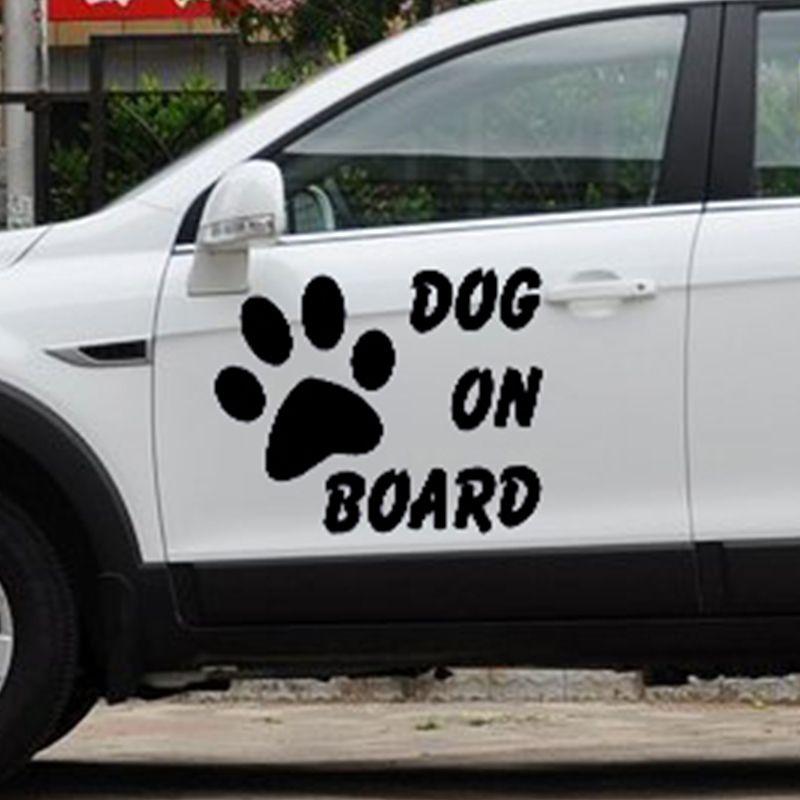 acheter chien bord autocollant de voiture dr le pour les voitures porte fen tre de camion. Black Bedroom Furniture Sets. Home Design Ideas