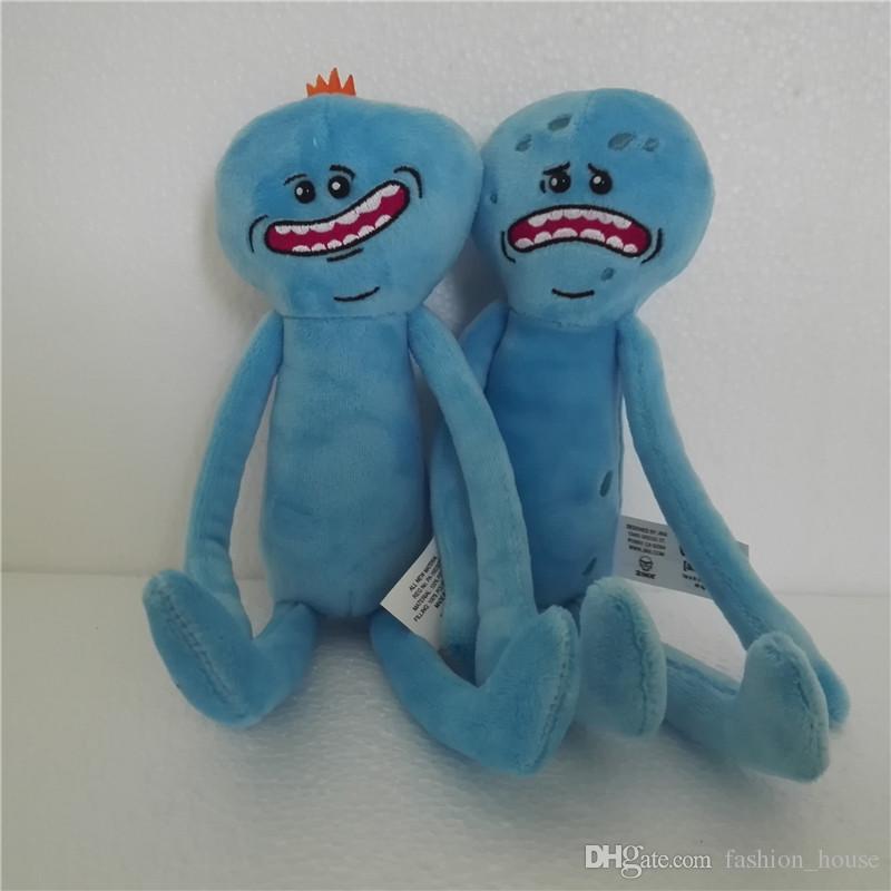 9.8inch 25cm Rick und Morty glückliche traurige Meeseeks füllte Plüsch-Spielwaren-Puppen für Kindergeschenk 2design A08 an