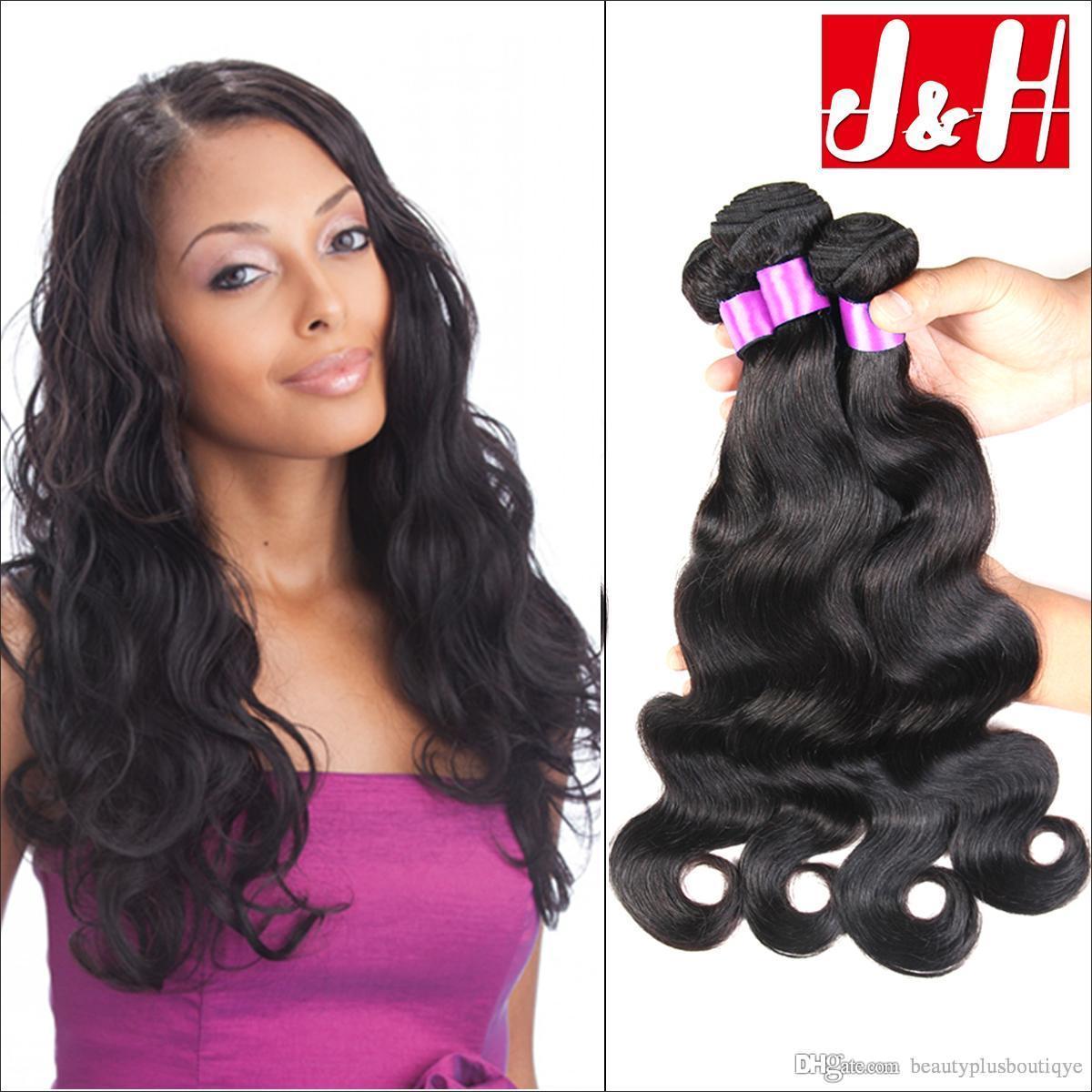 Brazilian Hair Unprocessed Human Hair Weaves Peruvian Malaysian