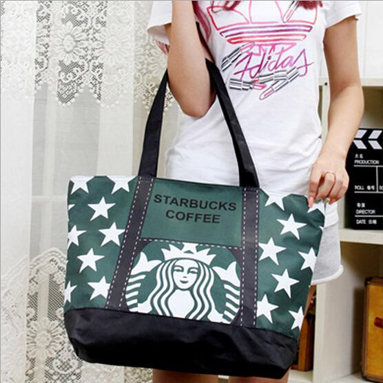 Starbucks Canvas Shopping Bag Modern Stylish Starbucks Coffee ...