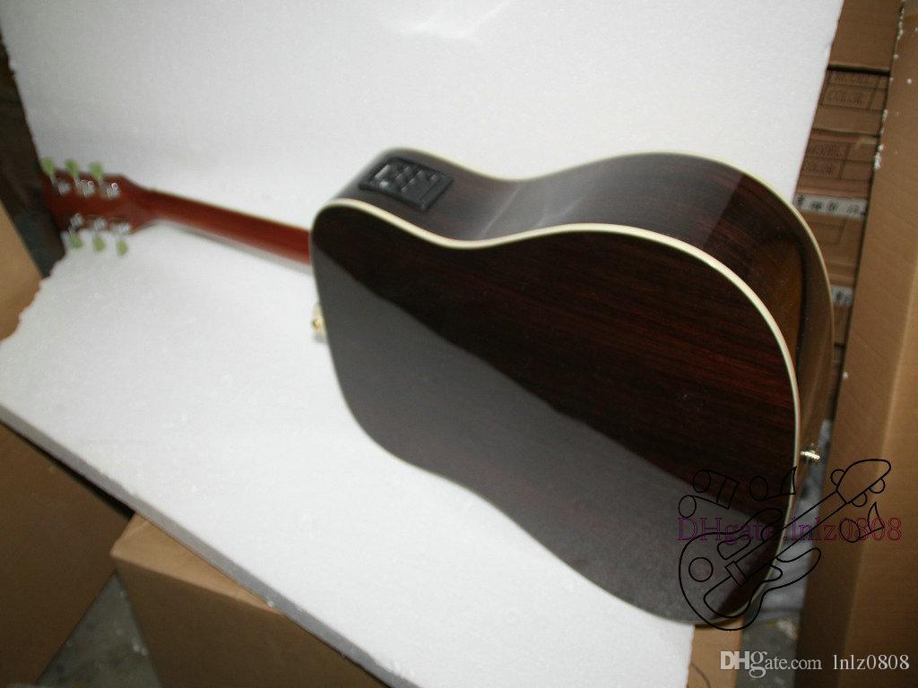 Chitarra elettrica acustica di scoppio del limone di nuovo arrivo personalizzato a buon mercato di alta qualità