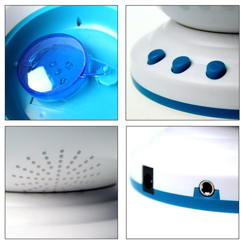 Night Light Projector Ocean Blue Sea Waves Projection Lamp With Mini Speaker