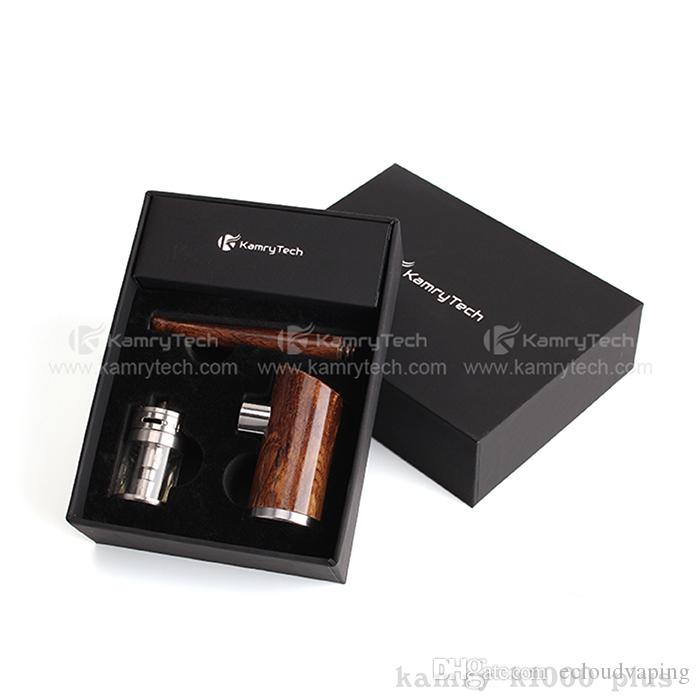Kamry K1000 Plus Kit Electronic Cigarette Kits E Pipe wood Mod Kits 1100mah 1-35W Battery 4.0ml Atomizers Huge Vaporizer Kits 100% Authentic