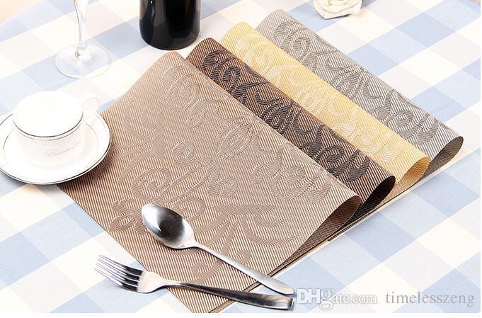 9 Stil tischset mode pvc esstisch matte disc pads schüssel pad untersetzer wasserdicht tischdecke pad rutschfeste pad