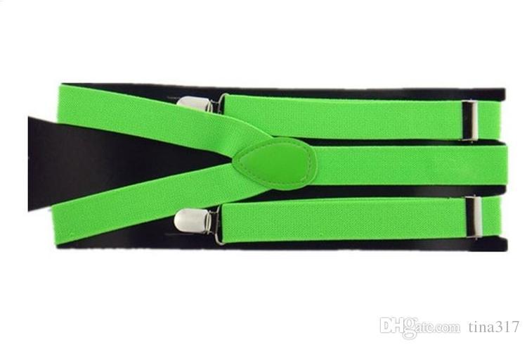 Clip on Adjustable Braces Candy Unisex Pants Y-back elastic Suspender Braces 1901
