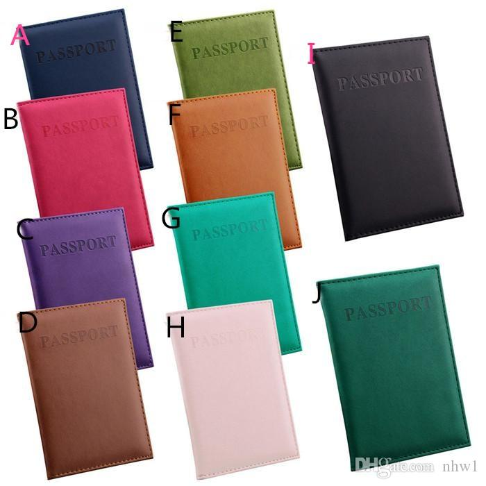 Fashion Passport Wallets Card Holders Cover Case Protector PU Leather Travel 14.2*9.8CM