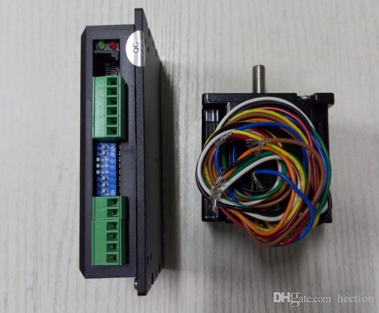 Novo Leadshine CNC Digital stepper unidade de acionamento DM442 Driver + 57HS09 motor de passo NEMA 23 um conjunto pode fora 0.9NM trabalho em 15-40VDC
