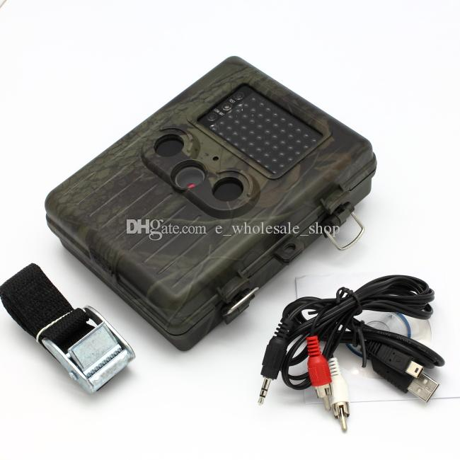 EMS/DHL Free HT-002AA Rain-proof Wildlife Hunting Camera HD Digital Infrared Scouting Trail Camera IR LED Video Recorder
