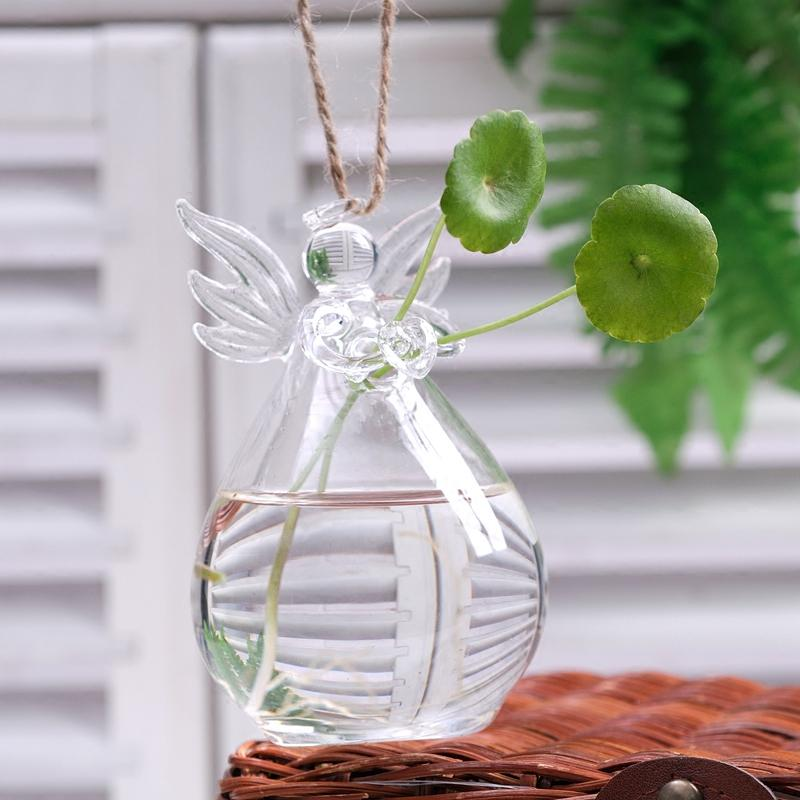 Home Decoration Angle Glass Vase Birthday Party Gift Flower Vase For