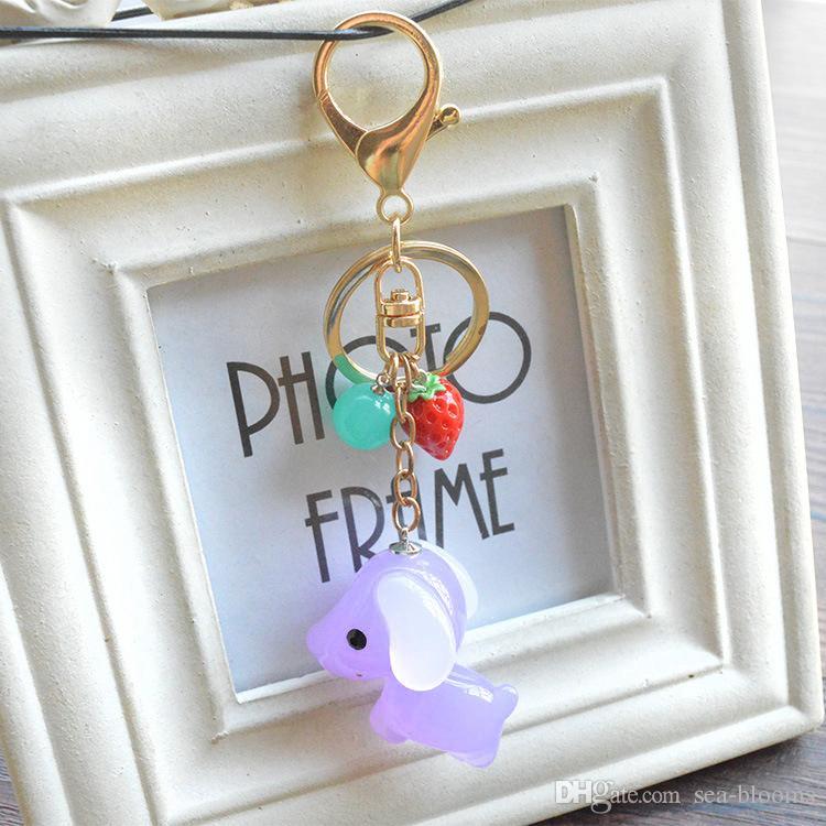 2017 neue Stil Mode Ornament Puppy Ball Keychain Schlüsselanhänger Puppe Schmuck Frauen Tasche Zubehör Autoschlüssel Kette 4 Stile B793Q