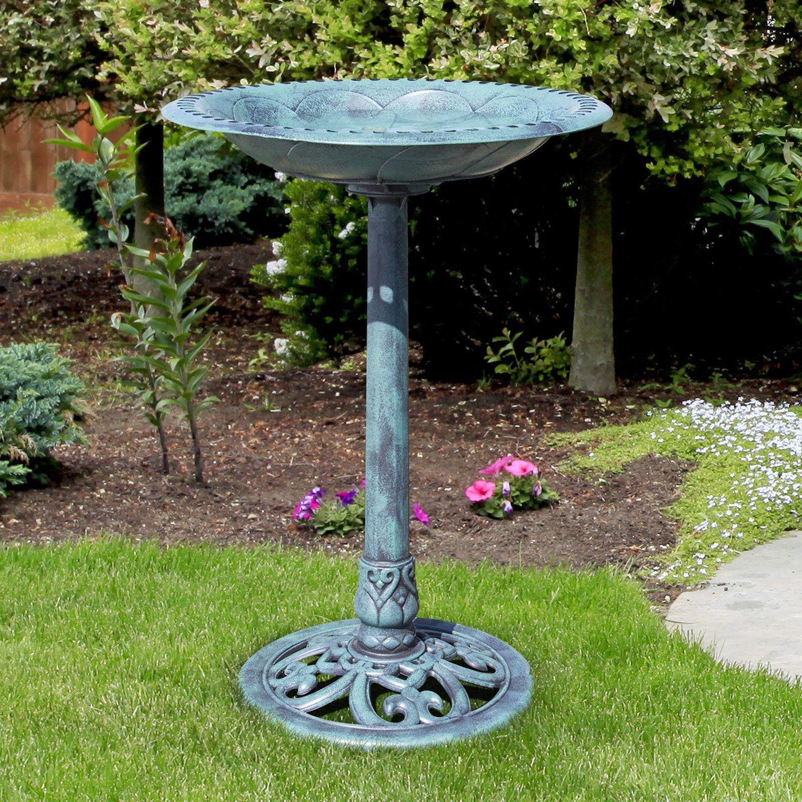 Best Choice Produkte Pedestal Vogel Bad Garten Dekor