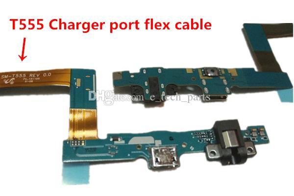 Mikro USB Dock Şarj Şarj Portu Bağlayıcı Flex Şerit Kablo Samsung Galaxy Tab için Bir 9.7 T550 T555 Yedek parça 10 adetgrup