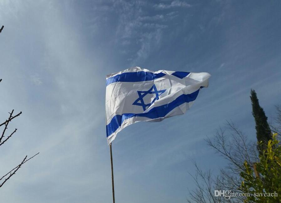 87cm x 148cm ISRAEL National FLAG Jewish Star Magen David Israeli Country flag, 3*5 feet for Festival Banner Home Decoration Flag