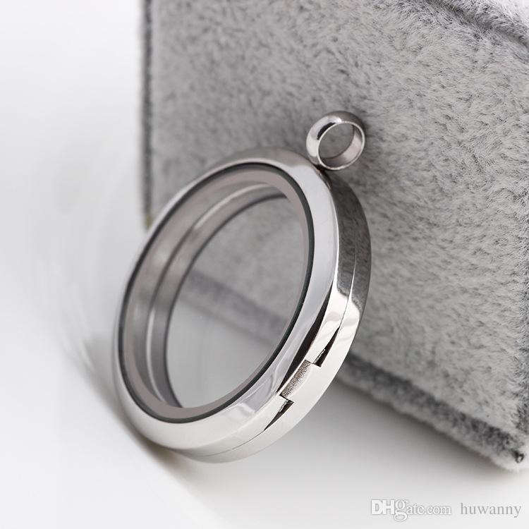 أعلى درجة 30mm و316 الفولاذ المقاوم للصدأ العائم المنجد DIY الزجاج الشفاف إطارات Floatings سحر المناجد المعلقات المجوهرات بالجملة 0082KLF