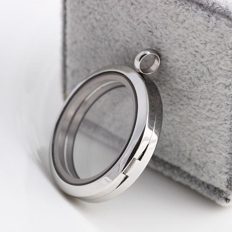 Grado superiore 30mm in acciaio inox 316 fascini Floating Locket fai da te Vetro Trasparente Frames fluttuazioni che Medaglioni monili dei pendenti 0082KLF all'ingrosso