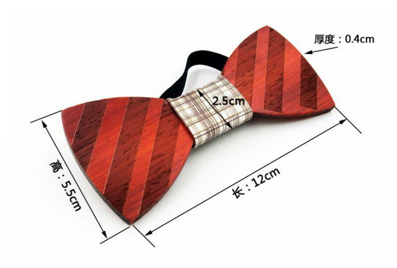 Pajaritas de madera hechas a mano Vintage Bowknot tradicional 6 estilos para caballero elegante de madera Bowtie hombres accesorios de moda