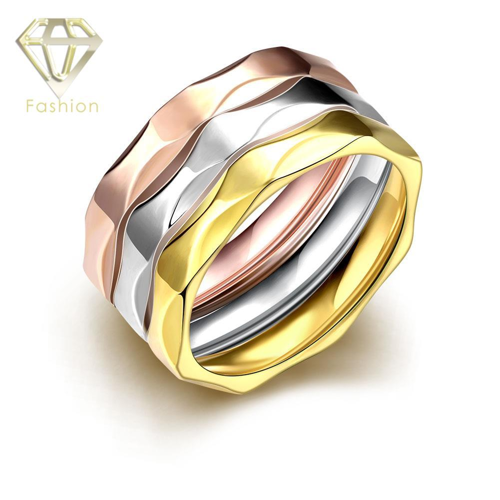 2018 fake wedding rings multi layers 18k rose white gold. Black Bedroom Furniture Sets. Home Design Ideas