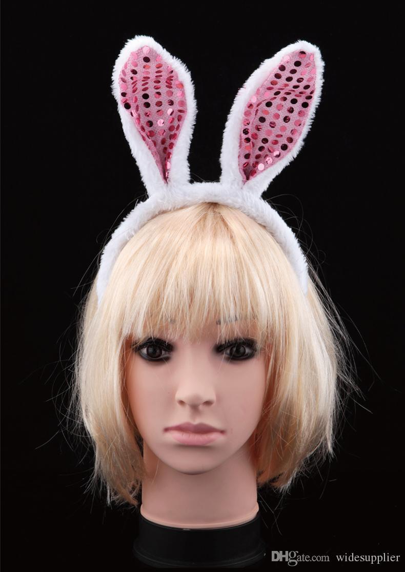 Детский день шоу реквизит макияж танцующие платье игровые расходные материалы Разнообразные животные трех частей кролика уши хеллоуин ювелирные изделия повязка на галстук
