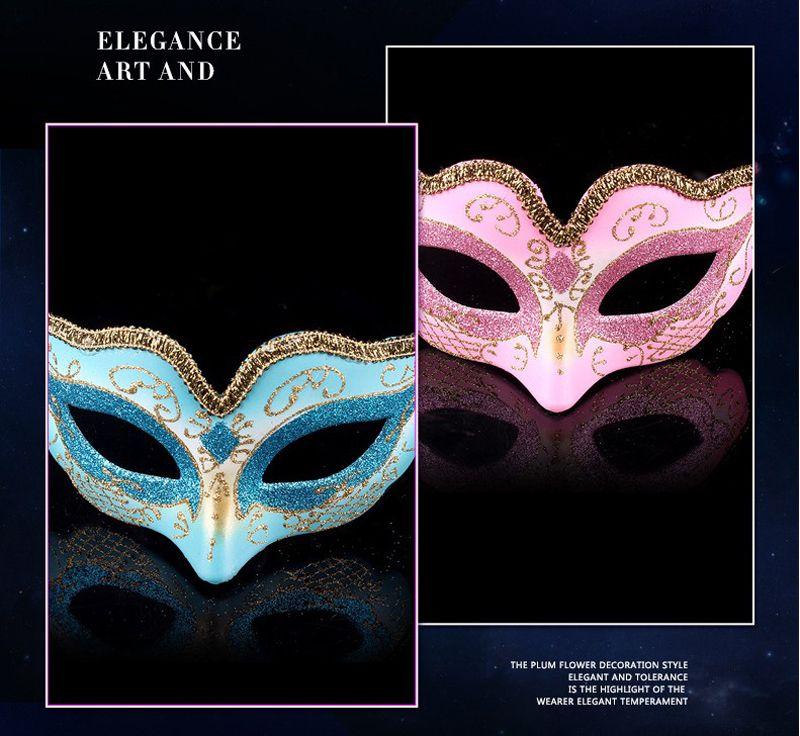 Sexy Lady Party Maske mit Gold Glitter Maske venezianischen Unisex Sparkle Maskerade venezianische Maske Karneval Masken Maskerade Halloween