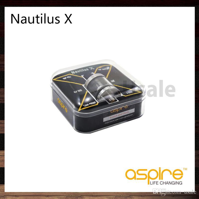 Aspire Nautilus X Atomizer Réservoir 2ml Réglable Top Flux Débit D'air Conception anti-fuites Bobines Nautilus X U-Tech 100% Original