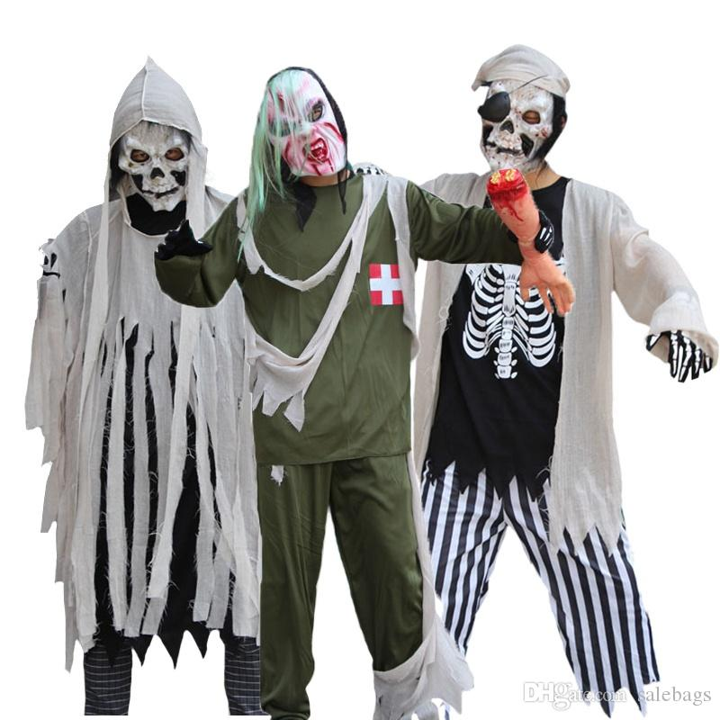 new arrival men halloween costume scary zombie evil cosplay outfit devil ghost ghoul party masquerade dress linen sw0326 halloween costumes halloween
