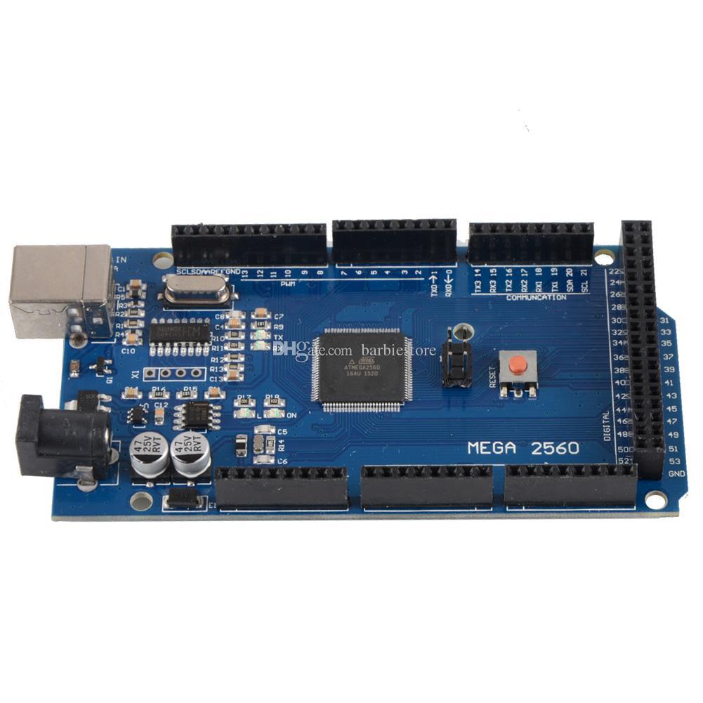 Para Arduino Atmega2560-16AU CH340G Mega 2560 R3 Board + cabo USB B00292