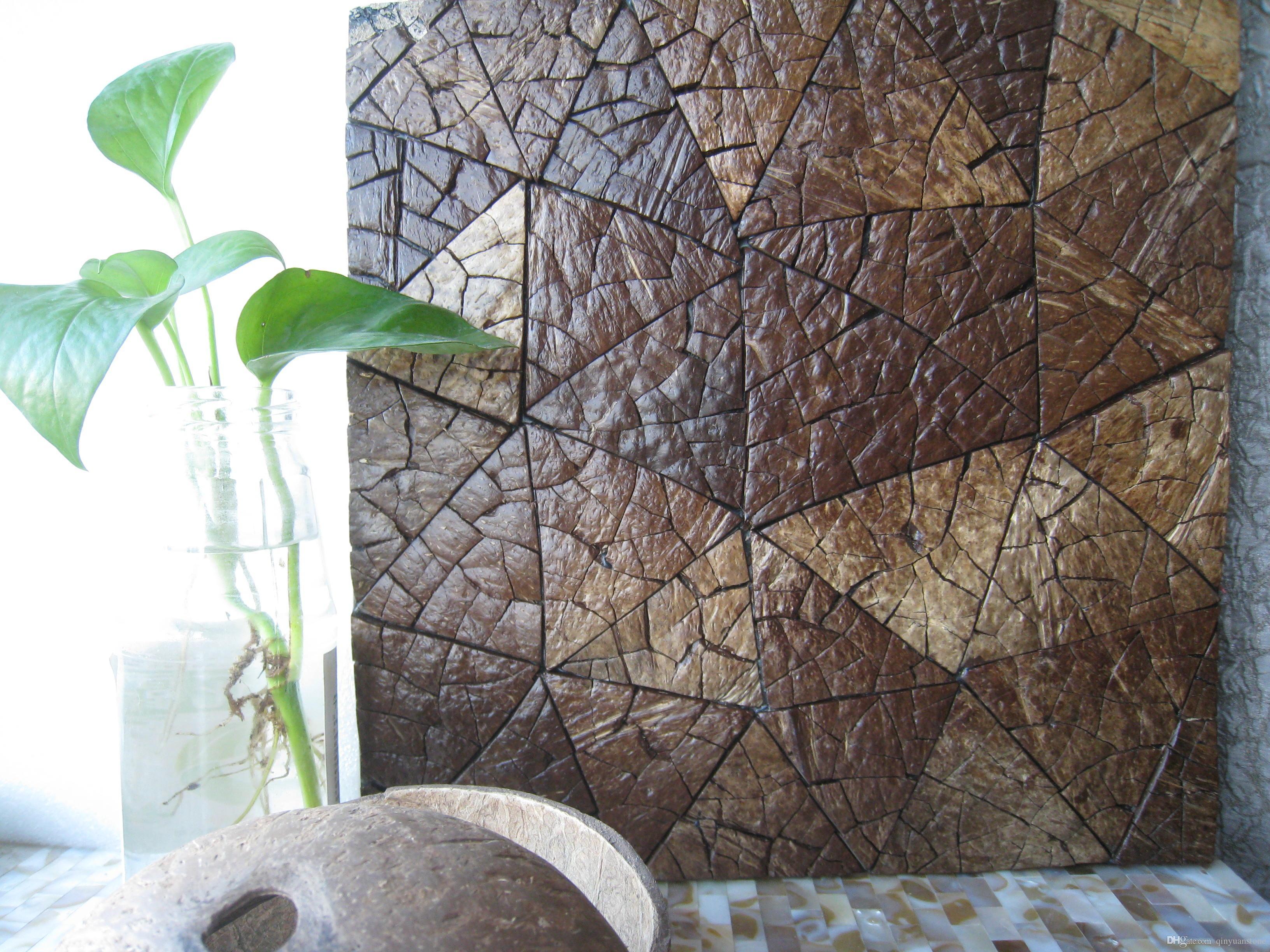 Acquista piastrelle mosaico piastrelle pelle di cocco tv sfondo