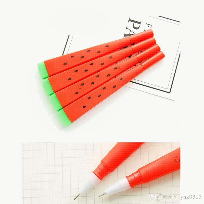 Cute Watermelon Gel Ink Pen 0.5mm Black Lapices Pens Canetas Stationery Office Accessories School Supplies
