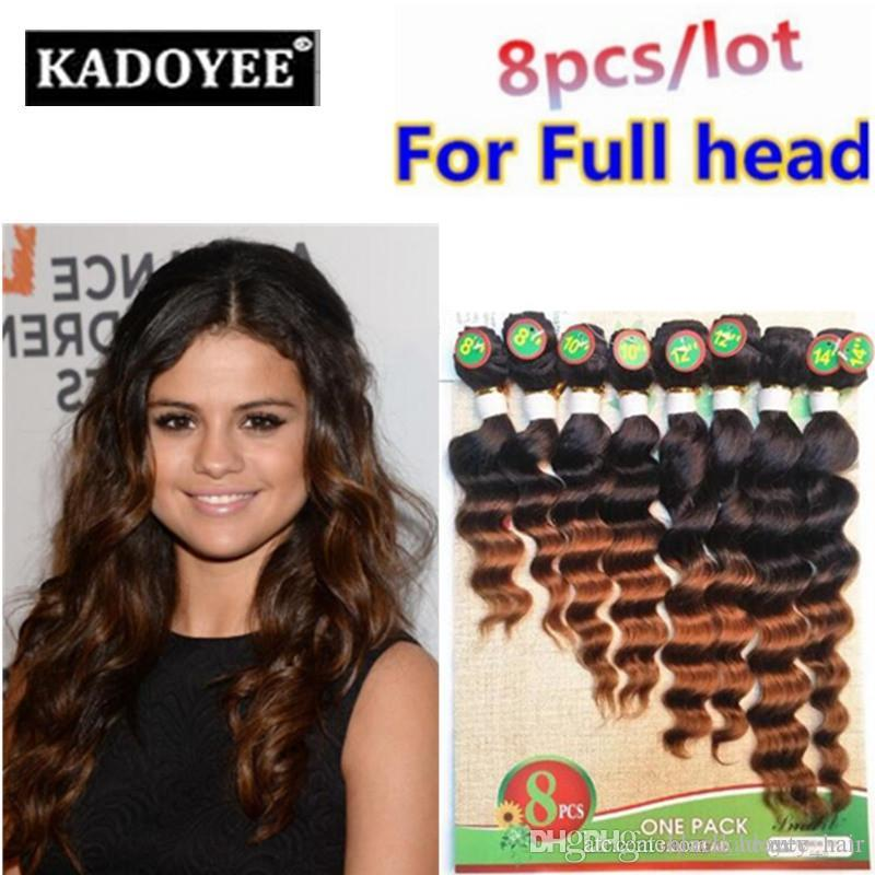 Loose Wave Human Hair extension Brazilian Hair virgin weave 100% human hair pack of 8pcs for full head Free Shipping US UK No Shedding