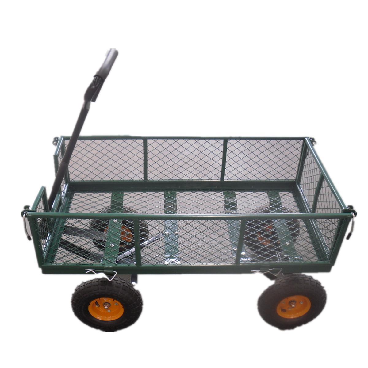 2017 4 Wheel Heavy Duty Garden Outdoor Utility Cart Truck Trolley