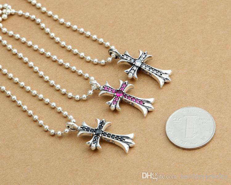 Personlized 925 sterling silver jewelry antique silver hand-made designer crosses necklace pendants vintage style without chain