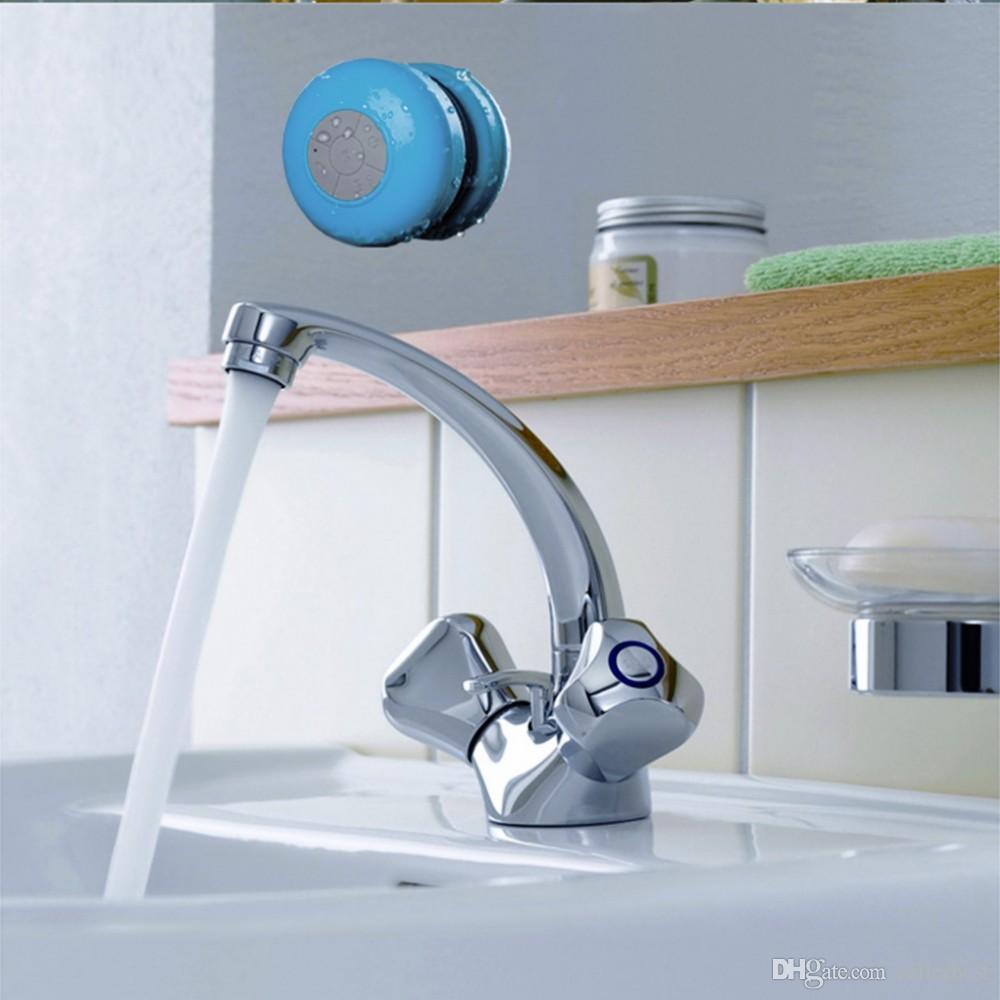 BTS-06 Suction Mini Bluetooth Speaker Shower Car Waterproof Wireless Mini Bluetooth Speakers Handsfree Mic Mushroom for Bath Bathroom