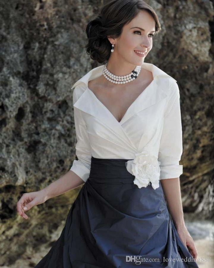 Black And White Elegant Mother of the Bride Dresses Long Sleeves Floor Length Taffeta Mermaid A Line Formal Dress Evening Gowns 2018 Spring
