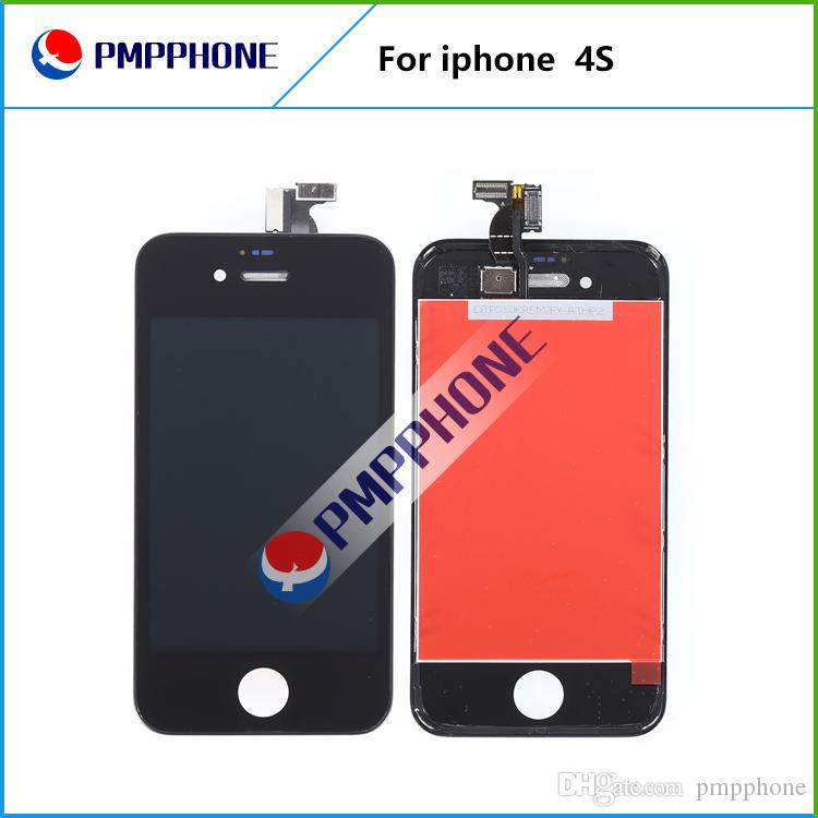 Good Quality LCD Display with Glass Touch Screen Digitizer Replacement For iPhone 4s
