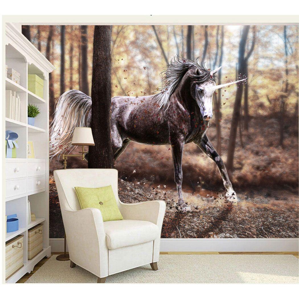 unicorn pattern design image wall decor wallpaper mural decorative see larger image