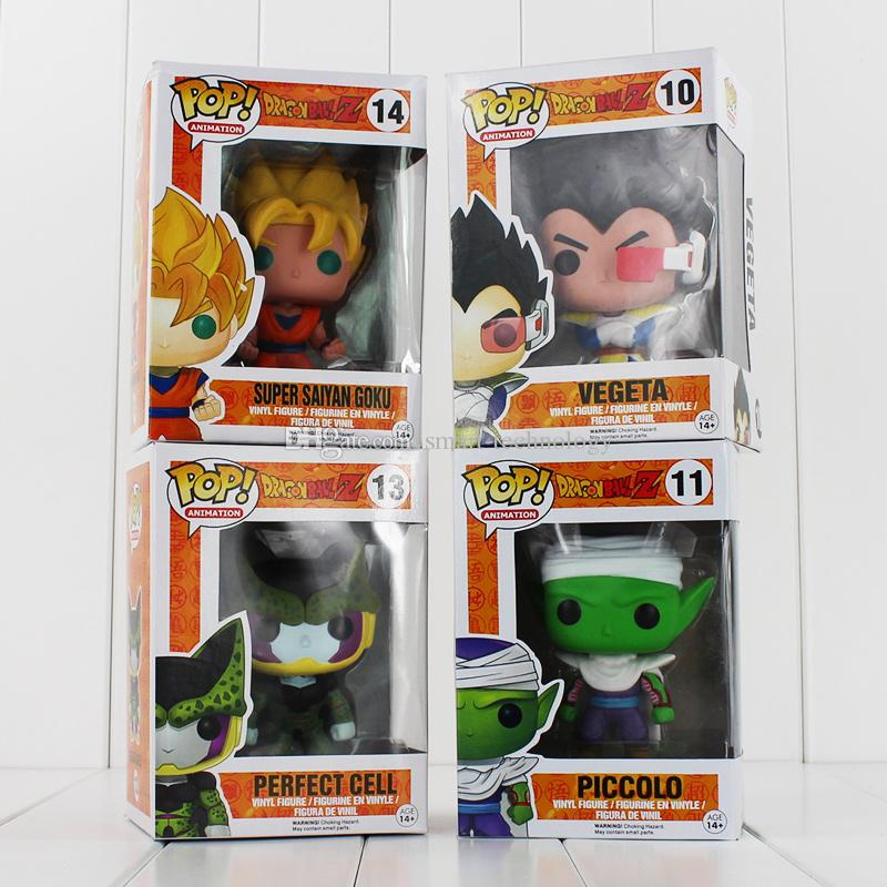 FUNKO POP Dragon Ball Z Son Goku Vegeta Piccolo Cell PVC Action Figure Collectible Model Toy Retail