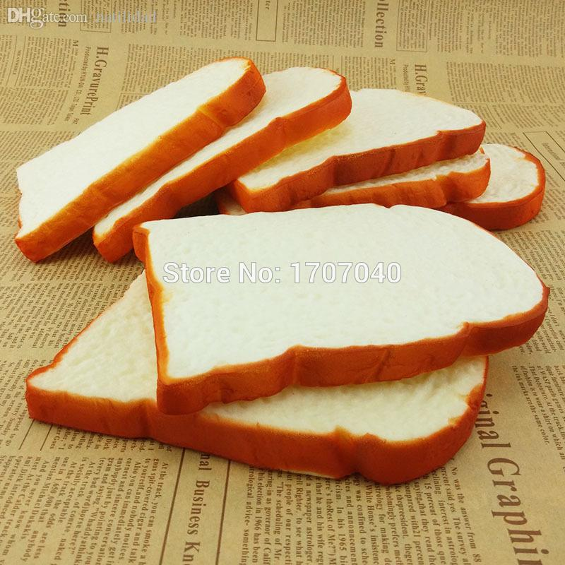 Wholesale-Jumbo Squishy Sliced Toast Toy Soft Bread Scented Funning Hand Pillow Gift Home Kitchen Decoration 1PCS