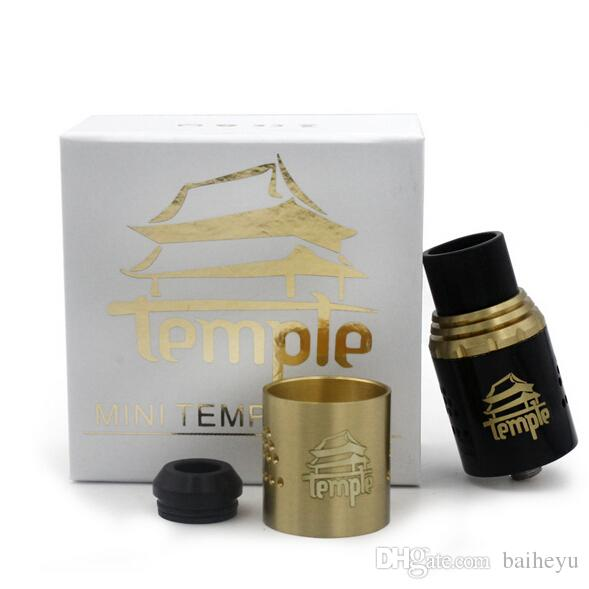 Mini Temple RDA Atomizers Clone Rebuildable Vaporizer 24mm Adjustable Airflow 3mm Post Hole Dual Post Come fit 510 mod