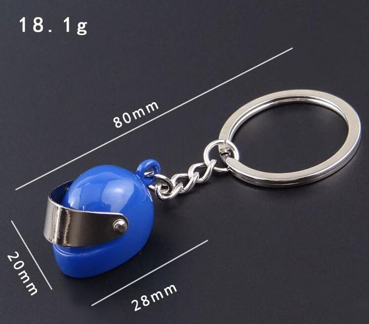 Fashion Jewelry Key Chains Sliver Blue Red Black New Fashion Motorcycle Racing Helmet Cool Metal Key Ring Creative Party gift