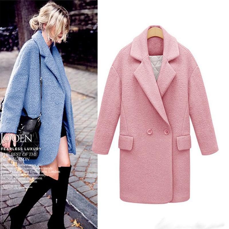 2017 New Style Women Wool Blends Winter Coat Oversized Double ...